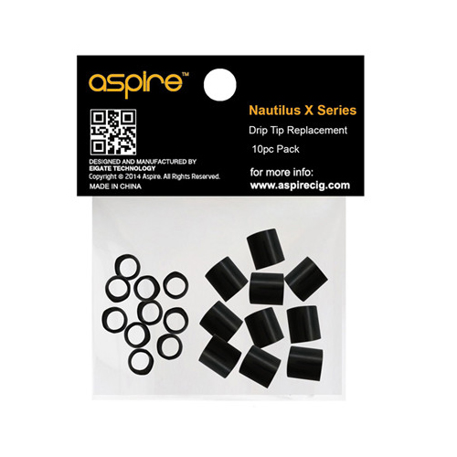 Aspire Nautilus X Series Drip Tip Replacement 10pc Pack