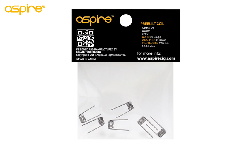 Aspire Prebuilt coil(6 pcs per bag )
