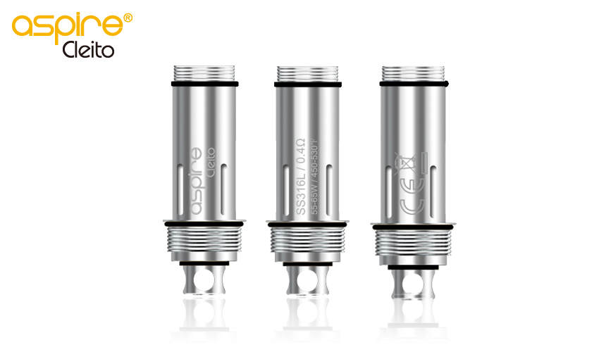 Aspire Cleito 316L temperature control Atomizer-0.4ohm 5pcs