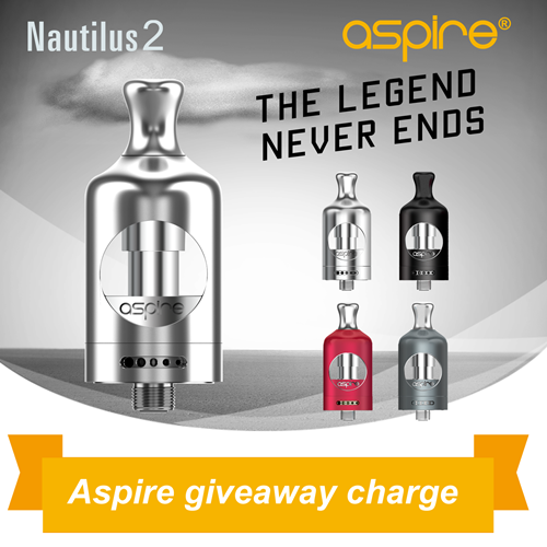 Aspire giveaway charge for U.S. winners only