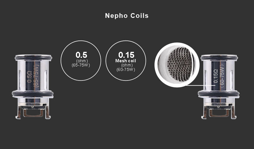 Aspire Nepho Replacement Atomizer 0.5ohm 3pcs